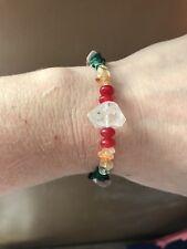 Unite Earth Tribes Herkimer Diamond Bracelet Handmade