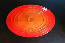 Le Creuset Stoneware Oval Casserole Replacement Lid Flame Color (Lid Only)