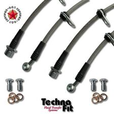 FRONT REAR Techna-Fit Stainless Steel Braided Brake Lines SCI-1100 fits Scion tC