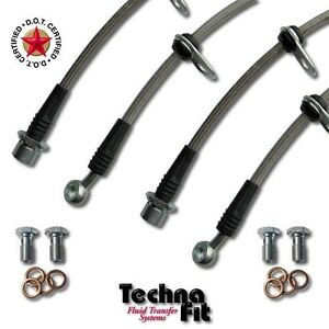 For Scion xA xB FRONT + REAR Stainless Steel Brake Line Set Techna-Fit SCI-1000