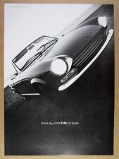 1968 Fiat 124 Spider photo vintage print Ad