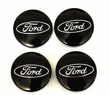 4PC SET Black Wheel Hub Center Caps 54MM Ford Fiesta Edge Focus Fusion Escape
