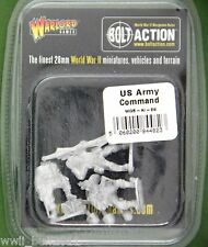 Warlord Games Bolt Action WGBAI29: 28mm US Army Command (3 Figures 3 Heads)