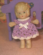 Dress for Miniature Bisque or Frozen Charlotte Doll fits any 2 1/2 inch doll