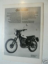 A078- YAMAHA XT500 OFF-ROAD MOTORCYCLE ADVERTISEMENT 1980