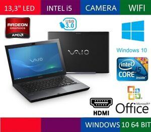 """SONY VAIO 4121GM 13,3"""" HD LED CORE i5  RAM 4GB HDD 320GB NOTEBOOK +CAM HDMI USB3"""