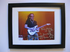 Steve Vai Signed 8 x 10 Concert Photo Fine Art with Ibanez Jem Guitar
