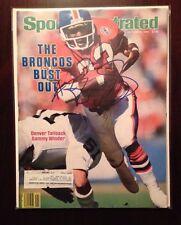 Sammy Winder Denver Broncos SIGNED Sports Illustrated SI Magazine 10/8/84