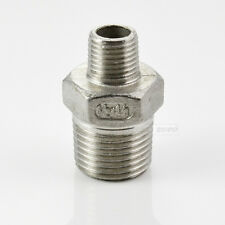 """1/2""""x1/4"""" Male Reducer HEX SCREWED NIPPLE BSPT THREAD STAINLESS STEEL FITTING"""