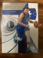 2019-20 Panini Mosaic LUKA DONCIC International Men of Mastery Base Card #11