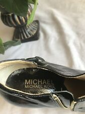 Michael Kors  Black Patent Leather Ankle Boots Heels Womens Size 6