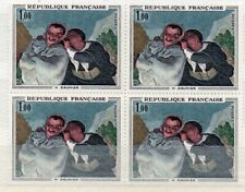 France 1966 BLOC 4 timbres N° 1494 - Honoré Daumier «Crispin et Scapin» - neuf