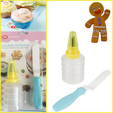 Home Baking Icing Bottle Spatula set Bakery Party Cake Bun Decor Piping Nozzle