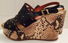 Napoleoni Italy Platform Shoes Python Print Wedge Free Shipping