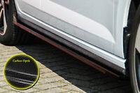 CUP Seitenschweller Schweller Sideskirts ABS für VW Polo GTI 2G AW Carbon Optik