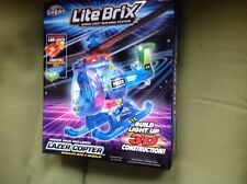 lite brix lazer  copter police helicopter led lights brand new sealed in box