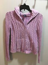 Purple GAP zip up hooded sweater girl's size XXL (14-16)