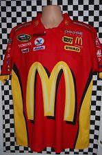 More details for elliott sadler #19 mcdonalds dodge nascar pit crew shirt race used size 50inch