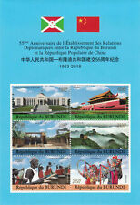 Burundi 2018 China Diplomatic Relationship Unique Unusual 3D Plastic MS MNH