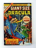 GIANT-SIZE DRACULA #5 Marvel Comics Fine Art of Dying 1st Byrne Art VF 1975