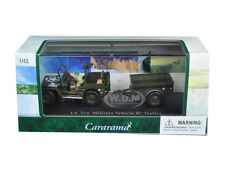 1/4 TON MILITARY VEHICLE WITH TRAILER & CASE 1/43 DIECAST MODEL CARARAMA 14901
