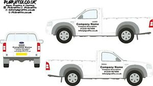 Pick Up Truck Sign Writing decal kit vehicle advertisement business Custom