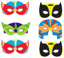 6 x Super Hero Masks - Foam Pinata Toy Loot/Party Bag Fillers Wedding/Kids