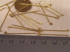 24 Vtg Gold brass 31mm  Brooch Pin Stem Straight Brooch Repair Jewelry Findings