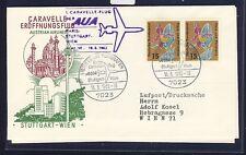 56265) AUA FF Stuttgart - Wien 16.6.63, SoU, MeF Bund 393 15PF Flora