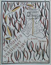 """""""EXPO ARTISANAT d'ART TOURNON 1961""""Maquette gouache s/papier origin. Jean COUPIN"""