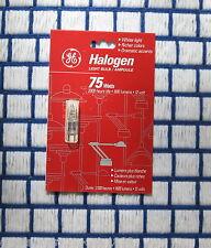 Box of 4 } ge JC 75 WATT HALOGEN light BULB 12 VOLT 12v 75w 2 pin capsule type