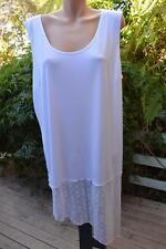 TS14+ White Lacy Ín the Spotlight' TANK/TUNIC DRESS~Size L-20/22 NEW rrp$99.95