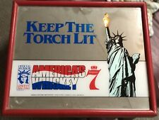 Seagrams 7 Lighted Torch Mirror Sign 1986