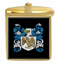 Donaldson Scotland Family Crest Surname Coat Of Arms Gold Cufflinks Engraved Box