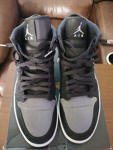 Nike Air Jordan 1 Mid SE Nylon Black Grey Anthracite 852542-012 Men's Size 13