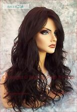 LONG  WIG HEAT SAFE SKIN TOP✯ COLOR #2  BEACHY WAVES STRIKING STYLE 435