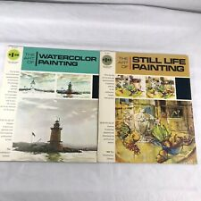 Lot of 2 Art Watercolor Painting Books Oil Acrylic Still Life Grumbacher Library