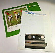 Accessories leaflets for Polaroid Image System instant cameras from the 1980s
