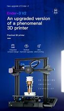 Creality Ender-3 V2 3D Printer with new user interface resume print and glass be