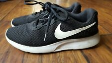 Women's Nike Tanjun Running Shoes Size 9.5 Black White EUC