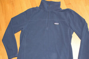 Mens Patagonia Blue Fleece Half Zip Pullover Size L