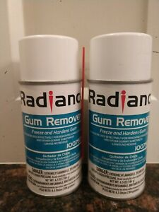 2 (Two)RADIANCE GUM REMOVER Freeze And Hardens Gum 6.5 oz aerosols, Good deal!!