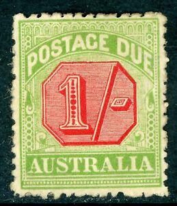 Australia 1909  Due 1S Rosine & Yellow Grn Comb Perf 12x12½ SG D69 MM Z562