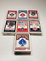 Lot Of 7 New Playing Card Decks - Bicycle + Hoyle   - 6 Bridge + 1 Standard