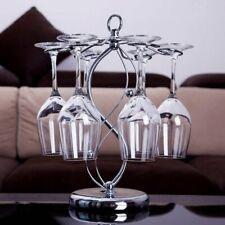 Wine Glass Holder with 6 Hooks Goblet Metal Display Rack for Restaurant Bar Use