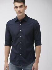 Levis Mens Long Sleeves Cotton Navy Blue Slim Stretch fit Shirt S M L XL 2XL
