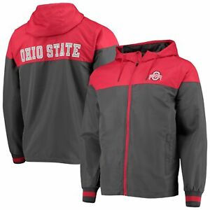 Ohio State Buckeyes Colosseum Game Night Full-Zip Jacket - Charcoal/Scarlet