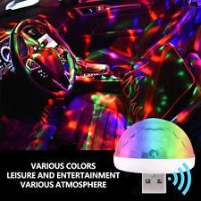 2x Universal Mini USB Atmosphere LED Light Lamp Auto Car Accessories Lamp Decor