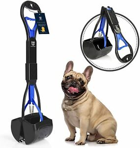 Non Breakable Dog Pet Pooper Scooper For Large & Small Dogs Long Handle New