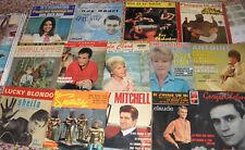 Lot de 14 Disques vinyles 45Tours .Claude francois,petula clark ,eddy mitchell..